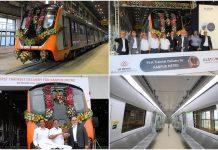 UP CM Yogi Adityanath Unveils First Make In India Prototype Metro Train For Kanpur, Agra